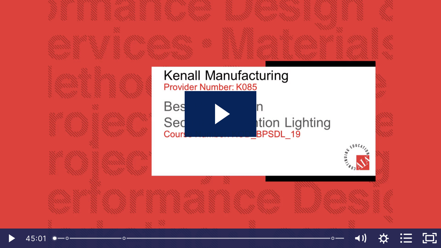 Kenall: Best Practices in Security/Detention Lighting